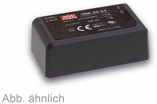 AC/DC-Printnetzteil MEANWELL IRM-30-24, 24 V-/1,3 A, 31,2 W
