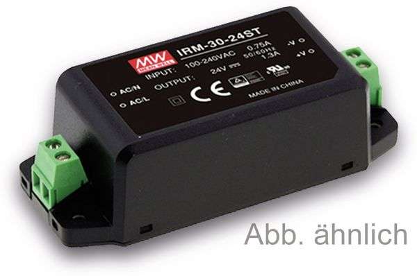 AC/DC-Printnetzteil MEANWELL IRM-30-15ST, 15 V-/2 A, 30 W
