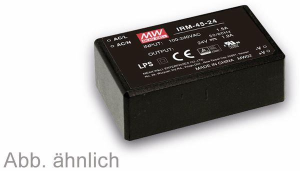 AC/DC-Printnetzteil MEANWELL IRM-45-24, 24 V-/1,9 A, 45,6 W