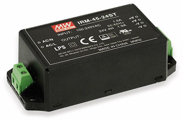 AC/DC-Printnetzteil MEANWELL IRM-45-5ST, 5 V-/8 A, 40 W