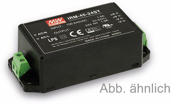 AC/DC-Printnetzteil MEANWELL IRM-45-24ST, 24 V-/1,9 A, 45 W