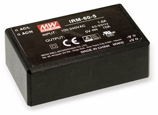 AC/DC-Printnetzteil MEANWELL IRM-60-5, 5 V-/10 A, 50 W