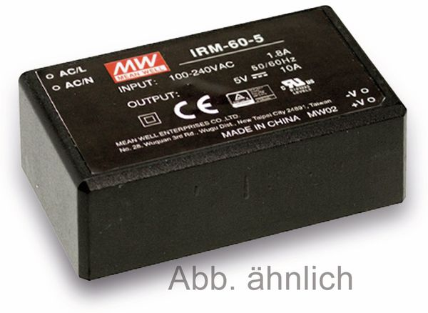 AC/DC-Printnetzteil MEANWELL IRM-60-24, 24 V-/2,5 A, 60 W