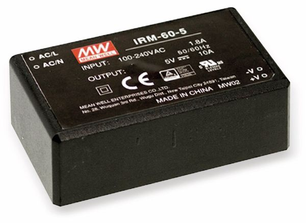 AC/DC-Printnetzteil MEANWELL IRM-60-48, 48 V-/1,25 A, 60 W