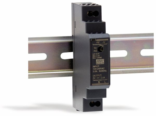 Hutschienen-Schaltnetzteil MEANWELL HDR-15-5, 5 V-/2,4 A