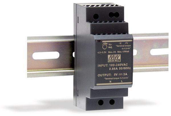 Hutschienen-Schaltnetzteil MEANWELL HDR-30-48, 48 V-/0,75 A