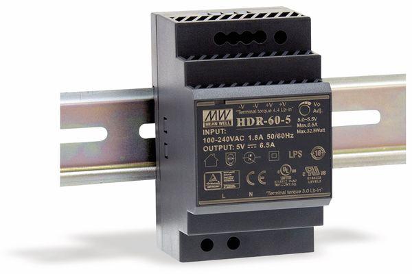 Hutschienen-Schaltnetzteil MEANWELL HDR-60-12, 12 V-/4,5 A