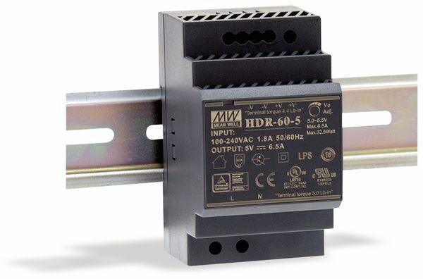 Hutschienen-Schaltnetzteil MEANWELL HDR-60-24, 24 V-/2,5 A