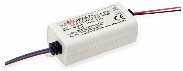 Schaltnetzteil MEANWELL APV-8-12, 12 V-/0,67 A