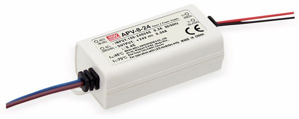 Schaltnetzteil MEANWELL APV-8-24, 24 V-/0,34 A