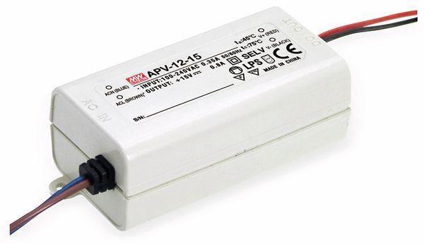 Schaltnetzteil MEANWELL APV-12-15, 15 V-/0,8 A