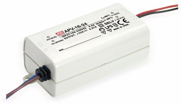 Schaltnetzteil MEANWELL APV-16-15, 15 V-/1 A