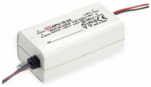 Schaltnetzteil MEANWELL APV-16-24, 24 V-/0,67 A