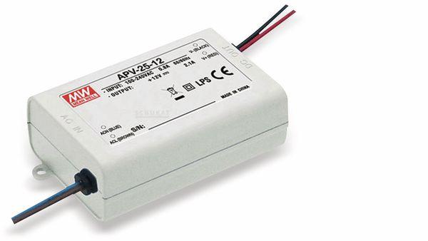 Schaltnetzteil MEANWELL APV-25-12, 12 V-/2,1 A