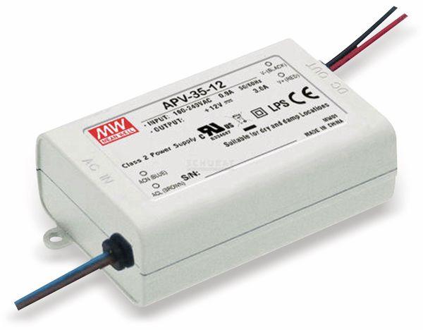 Schaltnetzteil MEANWELL APV-35-12, 12 V-/3 A