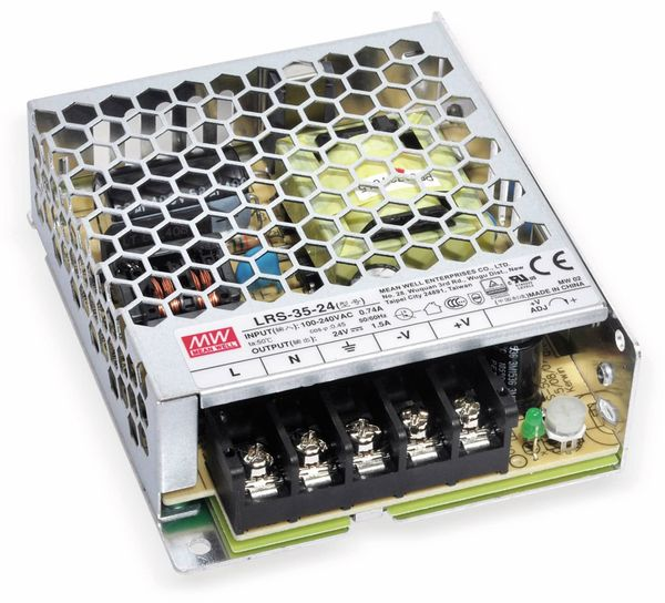Schaltnetzteil MEANWELL LRS-35-5, 5 V/7 A