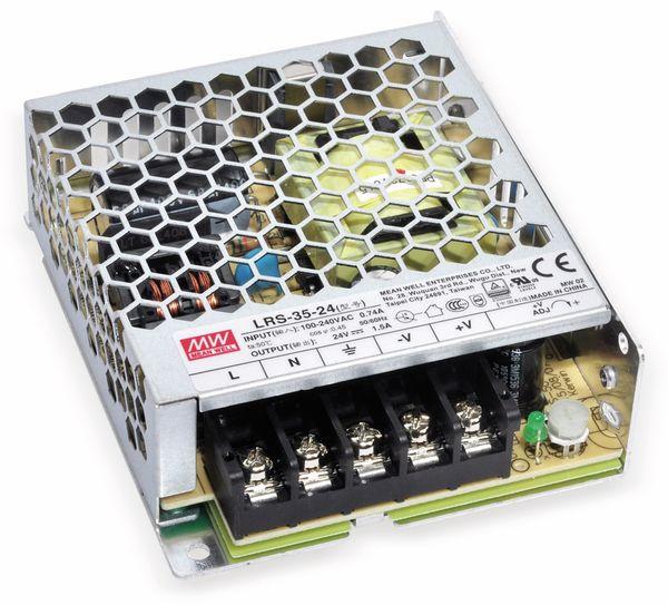 Schaltnetzteil MEANWELL LRS-35-24, 24 V/1,5 A