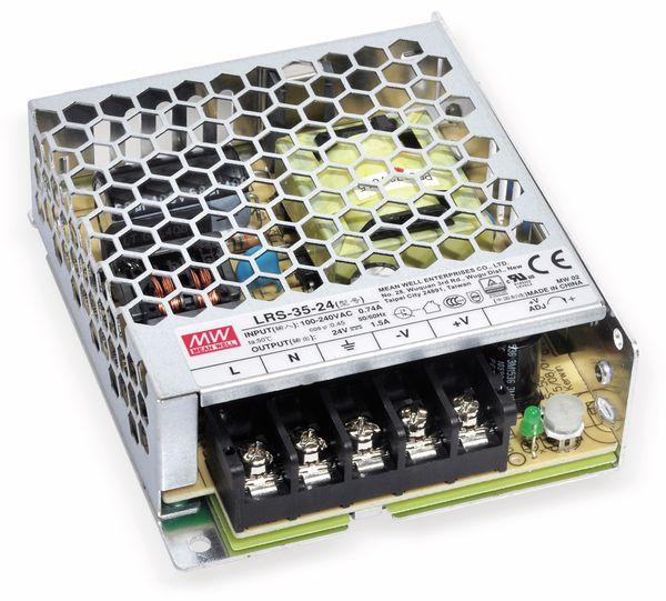 Schaltnetzteil MEANWELL LRS-35-36, 36 V/1 A