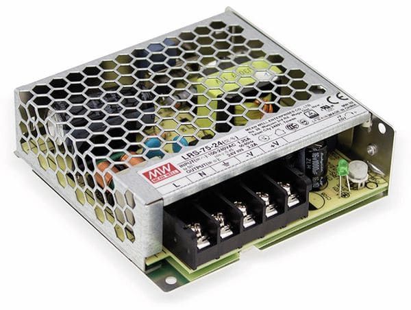 Schaltnetzteil MEANWELL LRS-75-24, 24 V/3,2 A