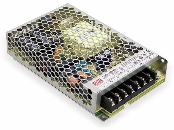 Schaltnetzteil MEANWELL LRS-150-24, 24 V/6,5 A