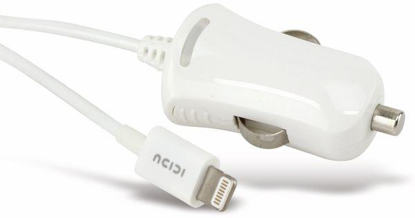 KFZ-Lader für iPod, iPhone und iPad, 5 V-/2,1 A, weiß - Produktbild 1