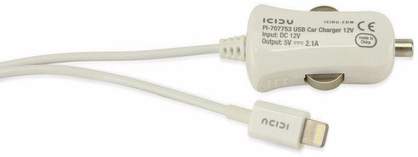 KFZ-Lader für iPod, iPhone und iPad, 5 V-/2,1 A, weiß - Produktbild 2