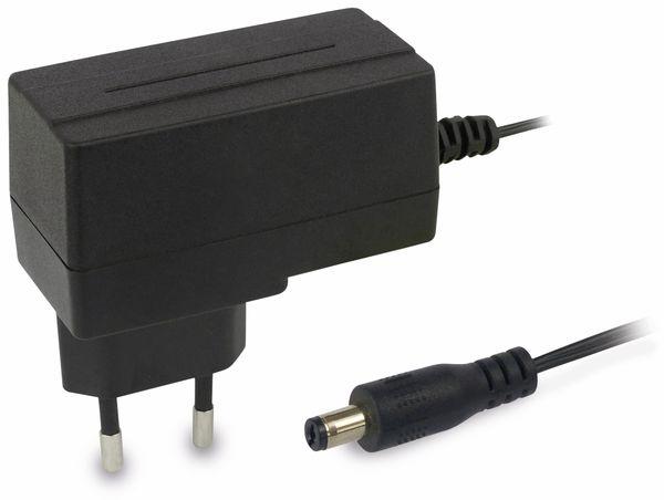 Stecker-Schaltnetzteil MV-12, 12 V-/1 A, 5,5/2,1 mm - Produktbild 1
