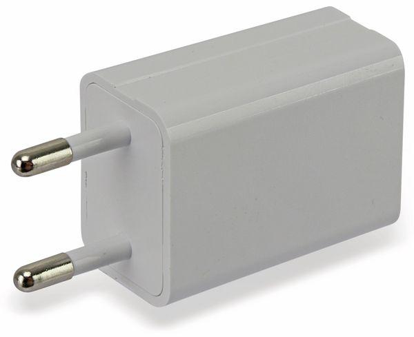 USB-Ladeadapter GAT-0501000, 5 V-/1 A, weiß - Produktbild 2
