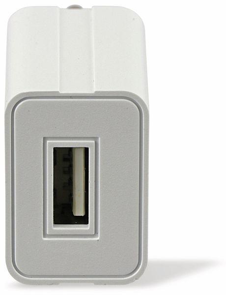 USB-Ladeadapter GAT-0501000, 5 V-/1 A, weiß - Produktbild 3