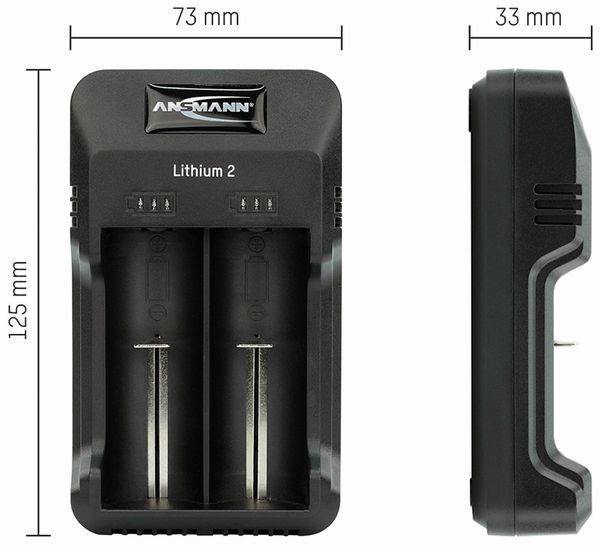 Ladegerät, ANSMANN, Lithium 2, Li-Ion/NIMH, USB - Produktbild 2