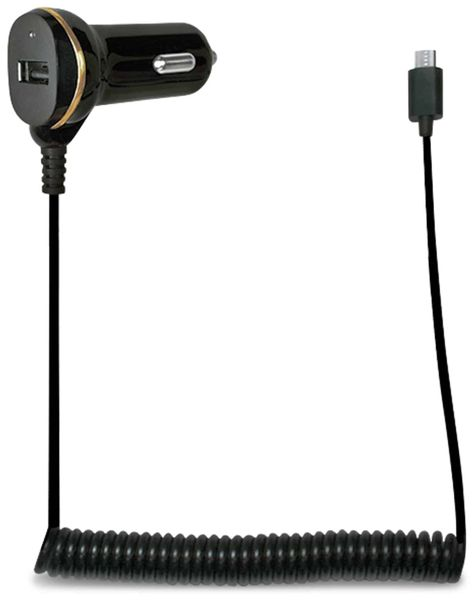 KFZ-Ladekabel LOGILINK PA0147, Micro-USB, 12/24 V, 2,1 A - Produktbild 1