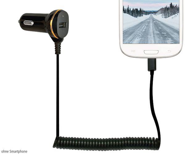 KFZ-Ladekabel LOGILINK PA0147, Micro-USB, 12/24 V, 2,1 A - Produktbild 2