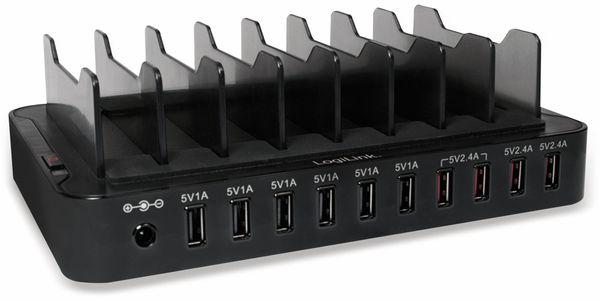 USB-Lader, Logilink, PA0141, 10-fach, 66W, Tischgerät