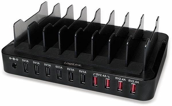 USB-Lader, Logilink, PA0141, 10-fach, 66W, Tischgerät - Produktbild 3