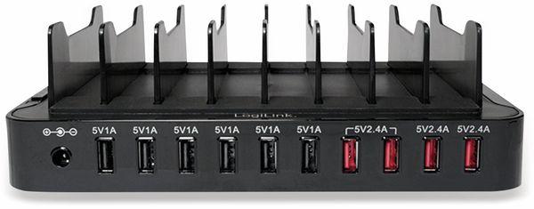 USB-Lader, Logilink, PA0141, 10-fach, 66W, Tischgerät - Produktbild 4