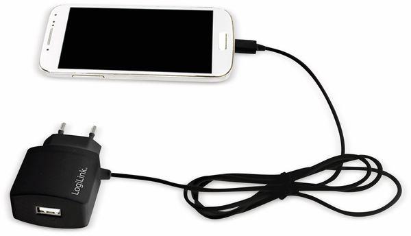 USB-Lader, Logilink, PA0146, 2-fach,10,5W, USB, Micro-USB, schwarz - Produktbild 2