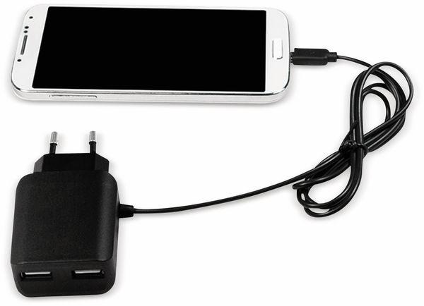USB-Ladegerät LOGILINK PA0157, 5V/2,1A, 10,5 W, schwarz - Produktbild 2