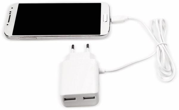 USB-Ladegerät LOGILINK PA0157W, 5V/2,1A, 10,5 W, weiß - Produktbild 2