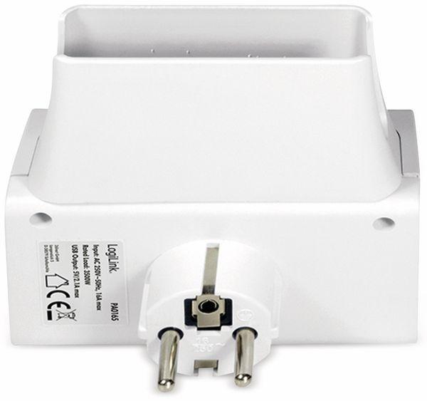 USB-Lader, Logilink PA0165, Schutzkontaktbuche 2-fach, 2,1A, mit Nachtlicht - Produktbild 6