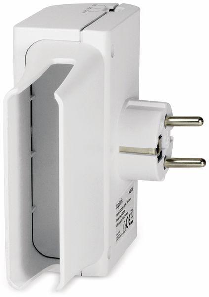 USB-Lader, Logilink PA0165, Schutzkontaktbuche 2-fach, 2,1A, mit Nachtlicht - Produktbild 7