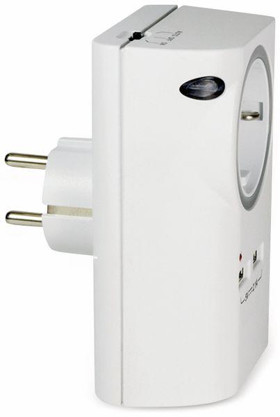 USB-Lader, Logilink PA0165, Schutzkontaktbuche 2-fach, 2,1A, mit Nachtlicht - Produktbild 8