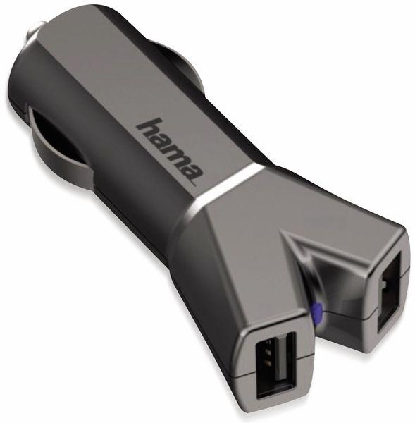Dual USB-Ladeadapter HAMA, 2-fach, 3,4 A, schwarz