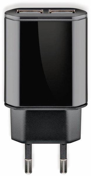 USB-Ladegerät GOOBAY 73274, 5V, 2,4 A, schwarz, 2x USB-Ausgang - Produktbild 2