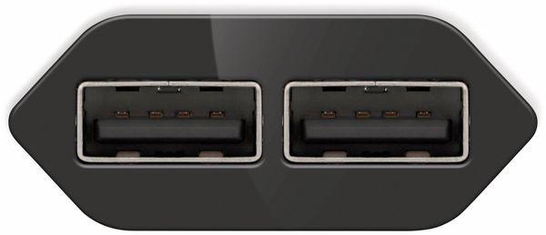 USB-Ladegerät GOOBAY 73274, 5V, 2,4 A, schwarz, 2x USB-Ausgang - Produktbild 3