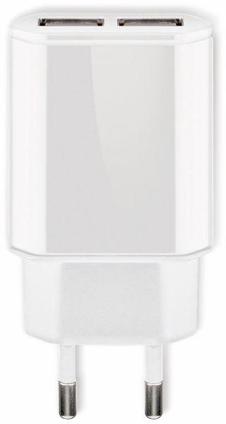 USB-Ladegerät GOOBAY 73274, 5V, 2,4 A, weiß, 2x USB-Ausgang - Produktbild 2