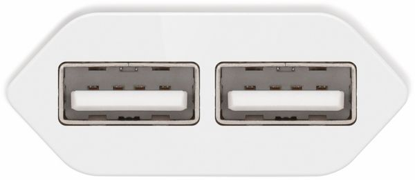 USB-Ladegerät GOOBAY 73274, 5V, 2,4 A, weiß, 2x USB-Ausgang - Produktbild 3