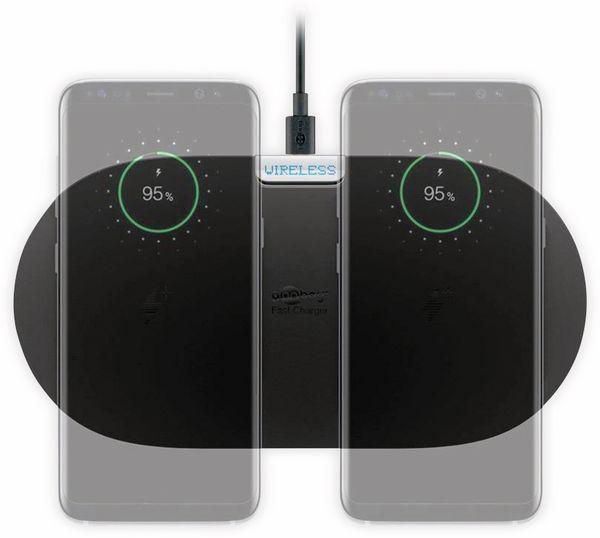 Kabellose Ladematte GOOBAY 66308, 10W, schwarz, 2x Wireless - Produktbild 6