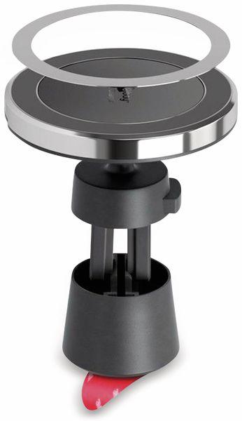 Kabelloses Ladegerät mit Magnethalter, GOOBAY 66310, 10 W, Schwarz/Silber