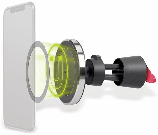 Kabelloses Ladegerät mit Magnethalter, GOOBAY 66310, 10 W, Schwarz/Silber - Produktbild 2