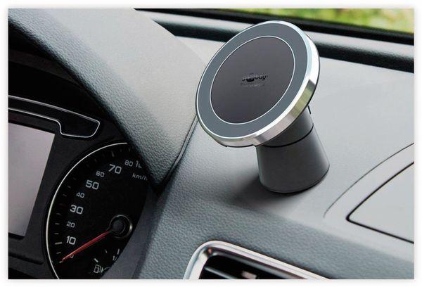 Kabelloses Ladegerät mit Magnethalter, GOOBAY 66310, 10 W, Schwarz/Silber - Produktbild 3